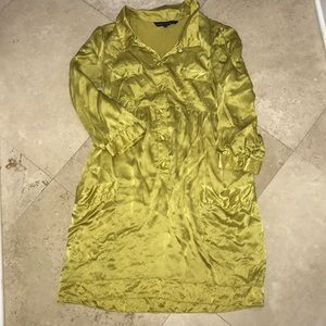 French connection mustard yellow dress